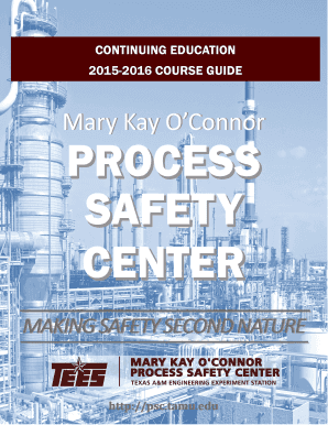 Fillable Online Psc Tamu 2015 2016 Course Catalog Mary Kay O 39