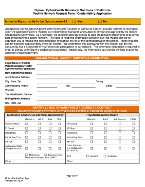 2015-2020 Form CA Optum Facility Cred App Fill Online ...
