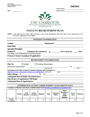 FACUL LTY REC CRUITM MENT PL LAN - Office of Academic Affairs