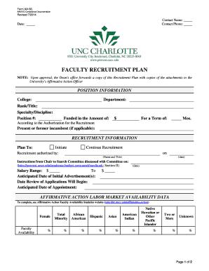 aa-02 - Faculty Recruitment Plan