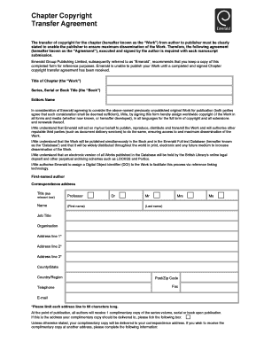 Fillable Copyright Transfer Agreement Template Uk Edit