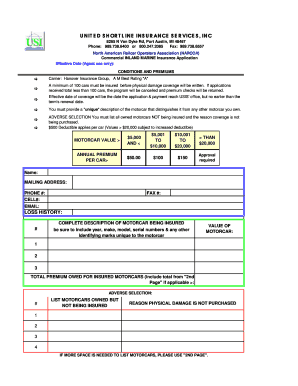 Fillable how to fill out a car insurance claim form