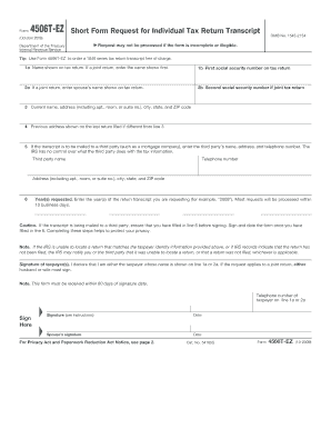 form 4506-t how long does it take Templates - Fillable & Printable ...