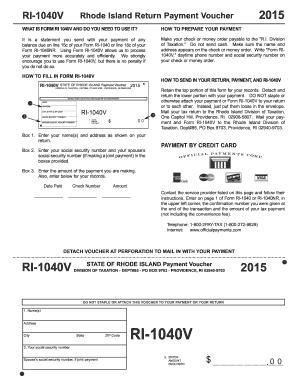 Ri 1040v - Fill Online, Printable, Fillable, Blank | PDFfiller