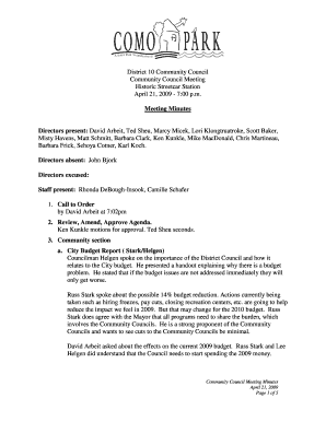 7:00 pm Meeting Minutes Di - District 10 Como Community Council