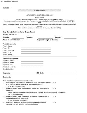 Fillable Online Please contact Aetna Better Health Pennsylvania ...