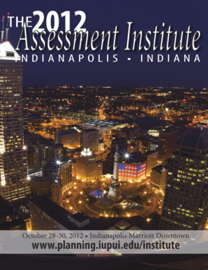 2012 Assessment Institute in Indianapolis - Planning and ... - planning iupui