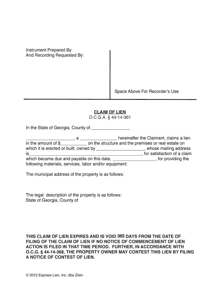 Property Lien Form   Fill Online, Printable, Fillable, Blank ...