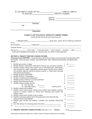 Fillable Online browardfamilylaw This form should be used when you ...