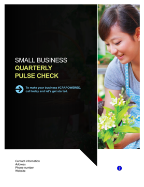 SMALL BUSINESS QUARTERLY PULSE CHECK - AICPA - aicpa
