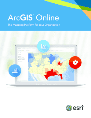 Fillable Online ArcGIS Online  ArcGIS Online brochure Fax Email