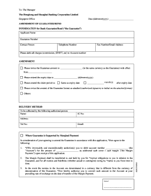 Guarantee amendment application (PDF, 51KB) - HSBC Singapore