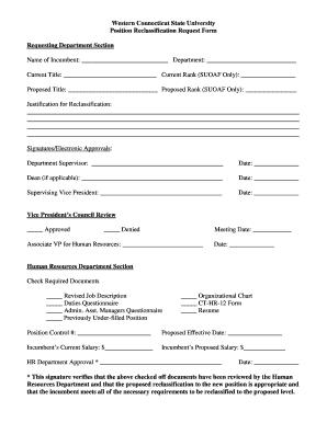 job reclassification justification example - Fill, Print & Download