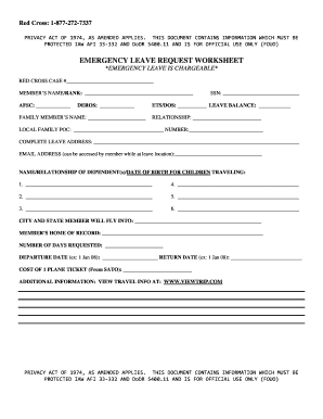 af leave request form  Fillable Online jber af EMERGENCY LEAVE REQUEST WORKSHEETdoc - jber ...