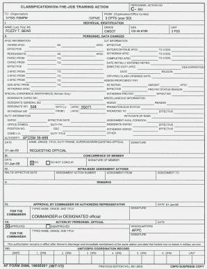 Fillable Online jber af Sample 2096- SEI Fax Email Print - PDFfiller