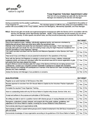 Appointment letter sample pdf forms and templates fillable troop organizer volunteer appointment letter welcome to gscnc altavistaventures Images
