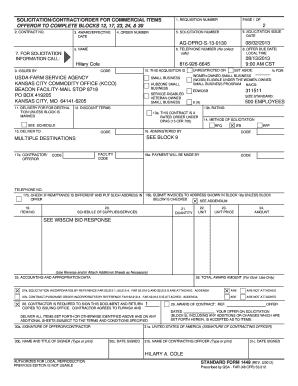 standard form 1449  Fillable Online Standard Form 8.pdf Fax Email Print ...