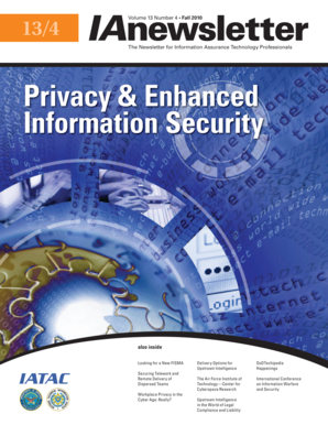 Fillable Online Privacy Amp Enhanced Information Security