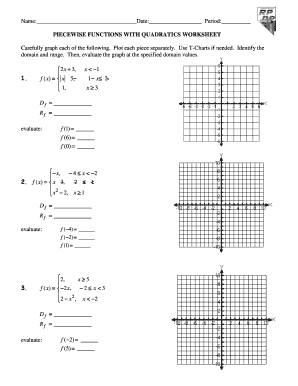 Piecewise Functions Worksheet - Fill Online, Printable, Fillable ...
