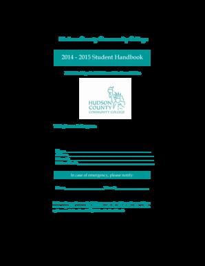 fillable online hccc hccc student handbook planner hudson county