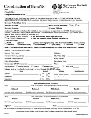 18 Printable blue cross blue shield overseas claim form Templates