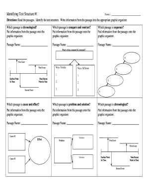 Printables Identifying Text Structure Worksheets identifying text structure 1 form fill online printable graphic organizer