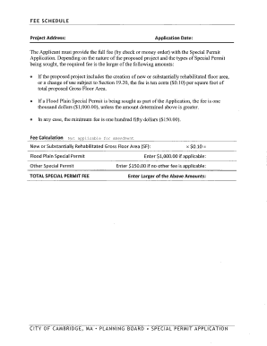 Planning Board Special Permit Application - Permit 179 North Point