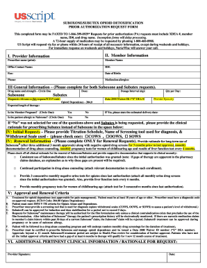 Fillable Online US Script Suboxone Prior Authorization Form pdf ...