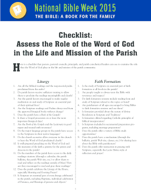 Fillable Online Assess the Role of the Word of God Fax Email