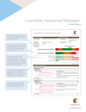 LoanSafe Appraisal Manager Sample Report - CoreLogic