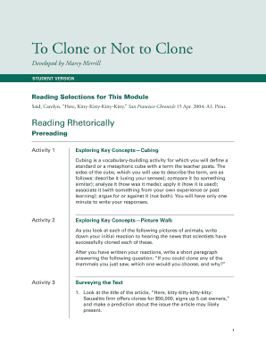 to clone or not to clone