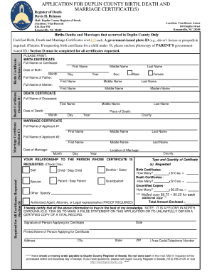 Births deaths marriages - Edit, Fill, Print & Download Online