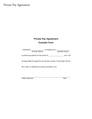 Fillable Online christushealthplan Private Pay Agreement Form ...