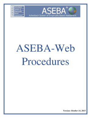 ASEBA-WEB Procedures - aseba