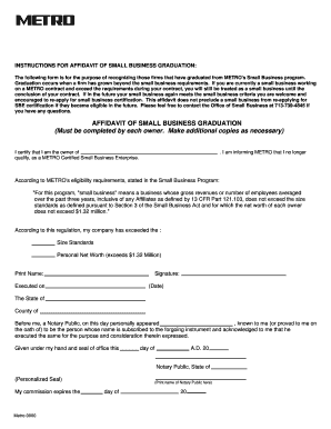 Policies and procedures template for small business forms fillable affidavit of small business graduation must be metro ridemetro flashek Choice Image