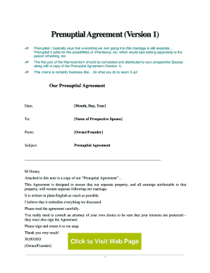 Editable Prenuptial Agreement Sample Fill Print
