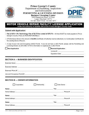 Mechanic repair forms templates fillable printable for Motor vehicle repair license