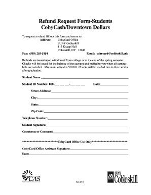 Refund Form - Fill Online, Printable, Fillable, Blank | PDFfiller