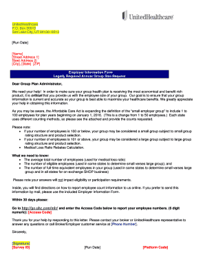 Fillable Online Cover Letter Employer Information Form ...