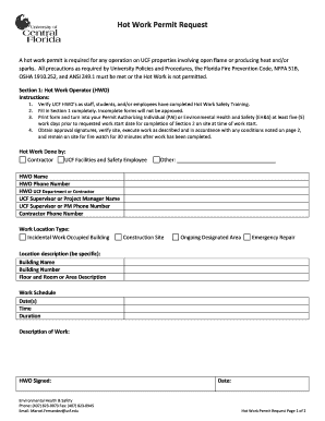 hot work permit form pdf