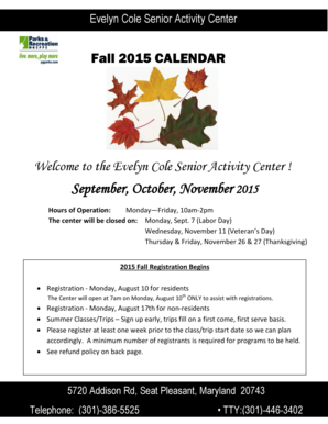 September October November 2015 - Department of Parks and