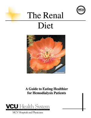The Renal Diet - vcuhealth