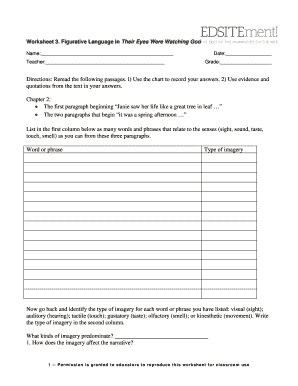 worksheet 3 figurative language in their eyes were watching god answers fill online printable. Black Bedroom Furniture Sets. Home Design Ideas