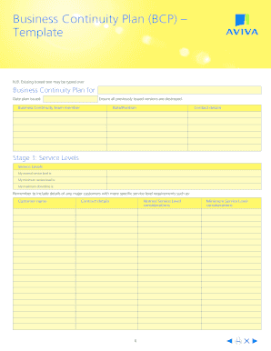 Editable Business Continuity Plan Template Small Business Fill - Small business contingency plan template