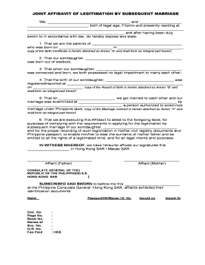 Affidavit for birth certificate by parents forms and templates joint affidavit of legitimation by subsequent marriagedoc yadclub Image collections