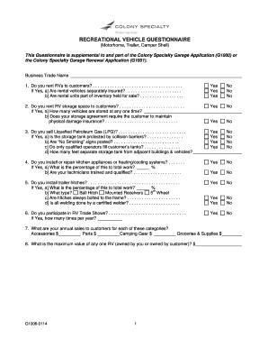 Rv Storage Agreement Template Edit Fill Print
