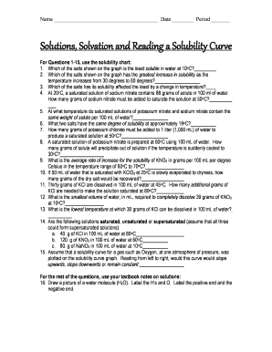 Solutions, Solvation and Reading a Solubility Curve - broadneck