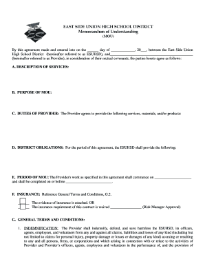 Fillable memorandum of understanding between two parties edit east side union high school district memorandum of spiritdancerdesigns Gallery