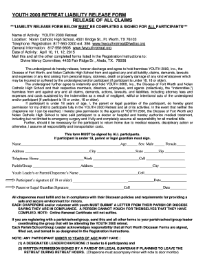 General release of all claims form - Fill Out Online Documents for