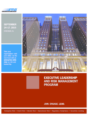 rma executive leadership risk management program 2015 pdf chicago form